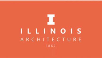 White illinois logo on orange background