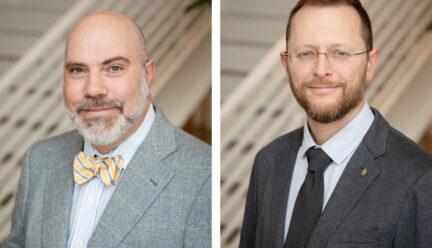 Headshots of Drs. Bross and Johnson