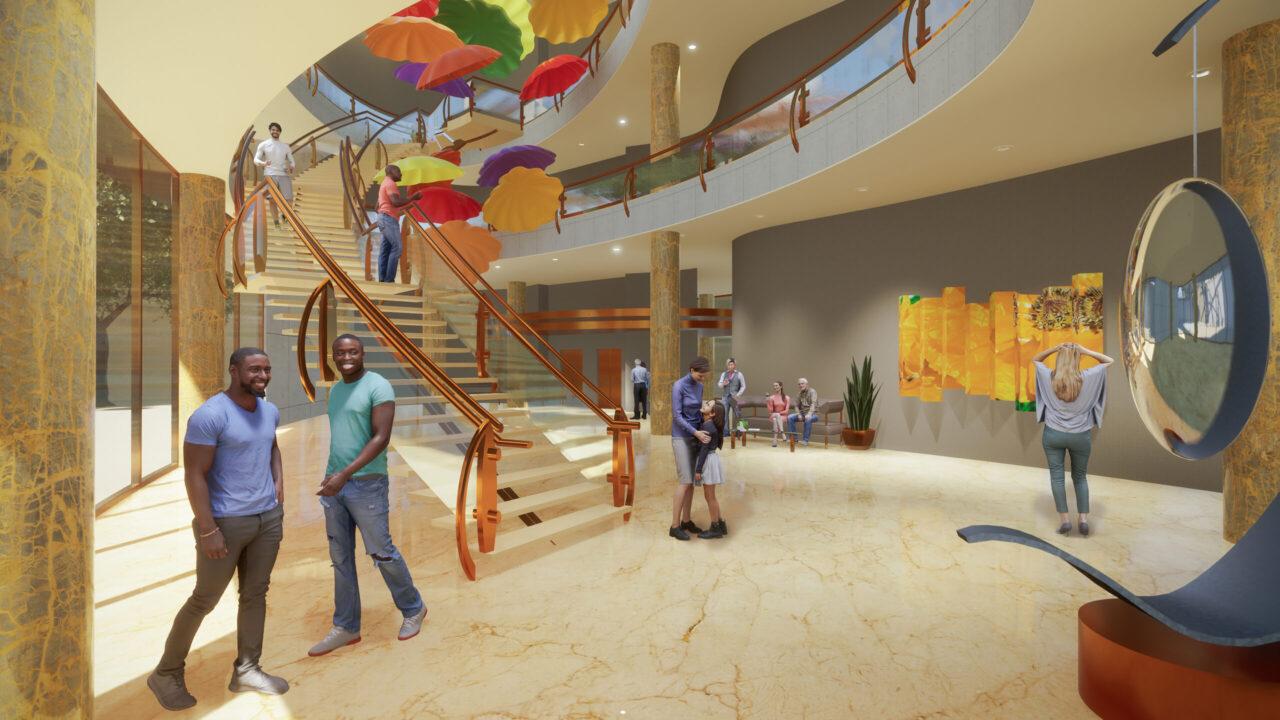 interior rendering of museum