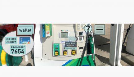 Gas pump VR scenario
