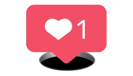 Like social media graphic