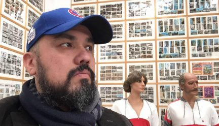 Jorge Lucero at an exhibition