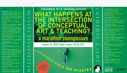 What Happens at the Intersection of Conceptual Art and Teaching? Schedule