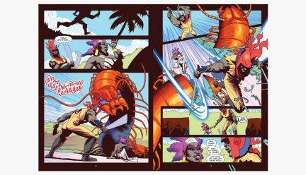 Comic panels by John Jennings