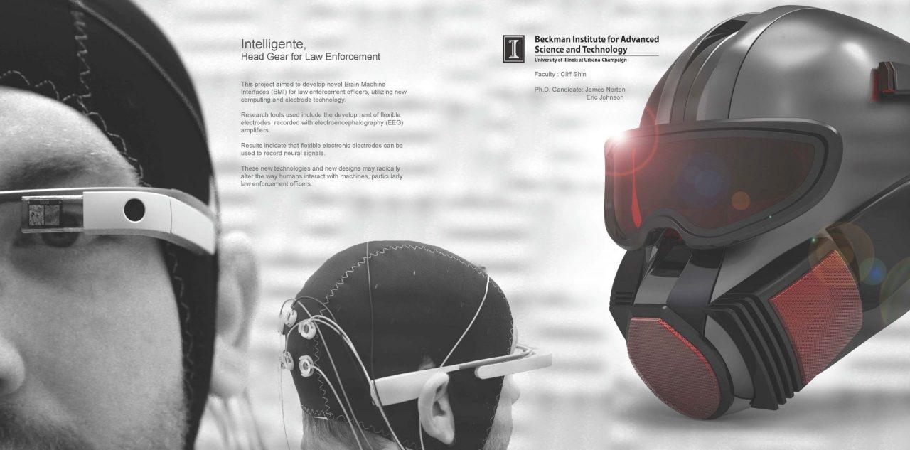 Closeup of Intelligente, Head Gear for Law Enforcement