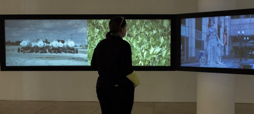 View of video installation