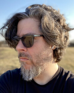 Portrait of Ben Grosser-side view