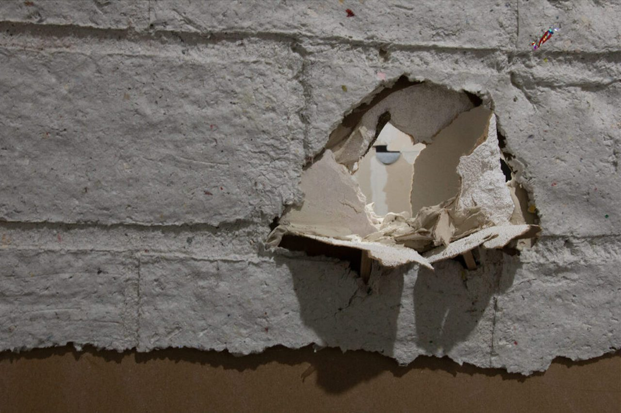 Photo of a hole in a wall
