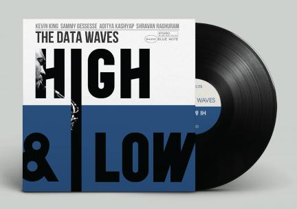 Photo of a record cover design by Matthew Waldinger