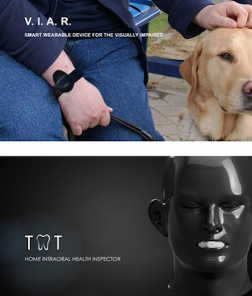 Composite view of designs for smart wearable devices