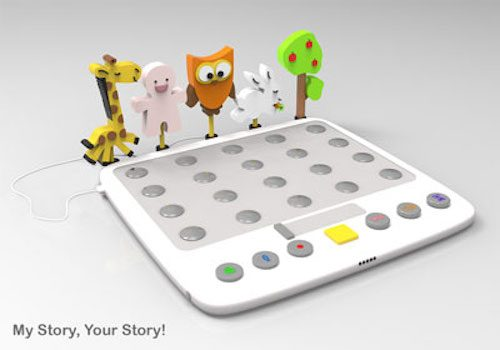 Rendering of children's game with animal characters