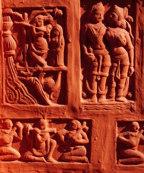 Photo of terra cotta relief