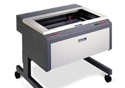 laser cutter on white background