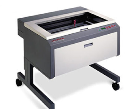 gray universal laser cutter on a white background