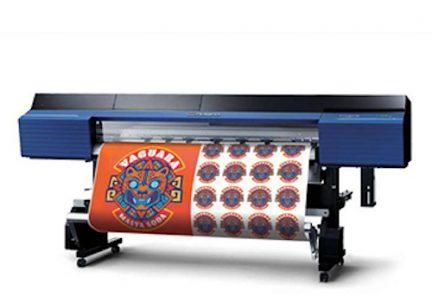 roland vinyl printer with orange print