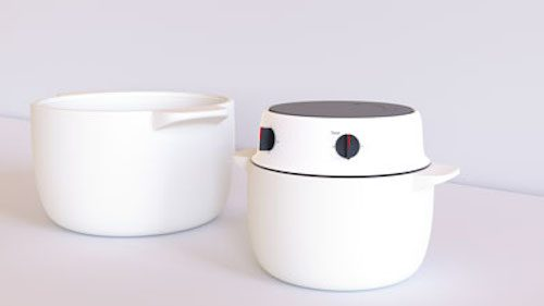 Photo of model of rice cooker