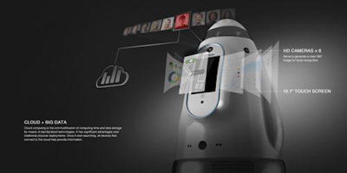Design rendering of security robot