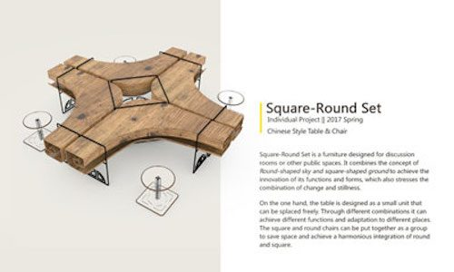 Design for Chinese-style table and chair