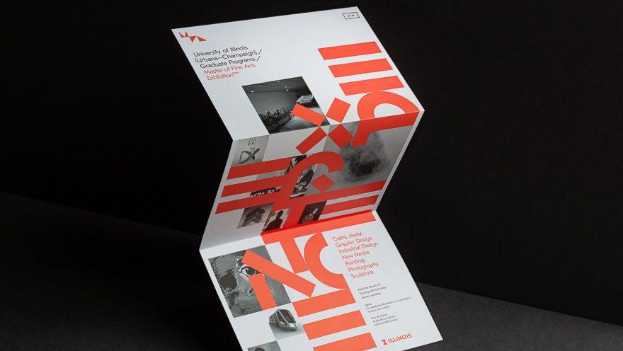 Designed brochure, unfolded vertically