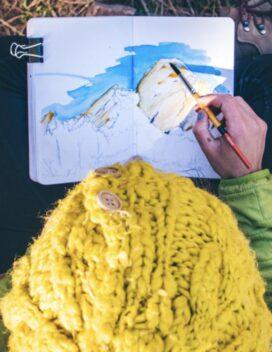 Portrait with sketchbook