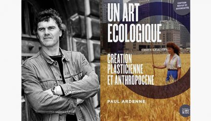 Head shot of Paul Ardenne with book cover