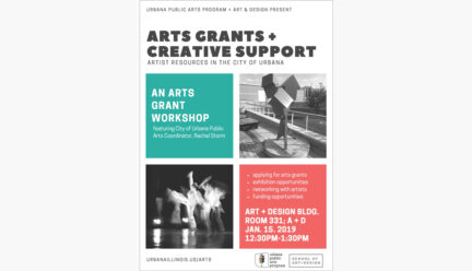 Arts Grants and Creative Support poster
