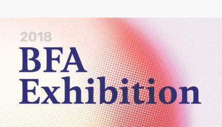 2018 BFA Exhibition graphic