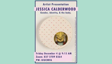 Jessica Calderwood artist talk poster