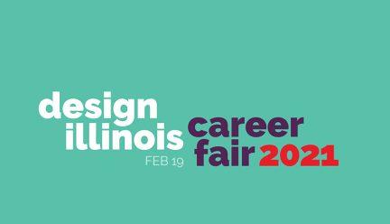 Design Illinois Career Fair 2021 graphic