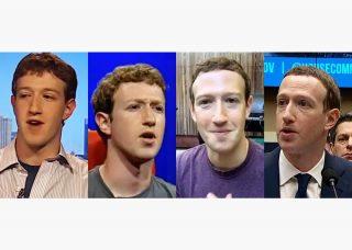 Four images of Mark Zuckerberg