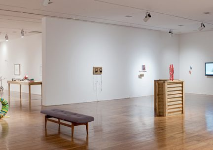 Photo of artworks on display in a museum gallery