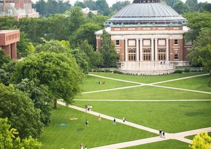 Aerial view of the South Quad