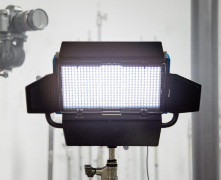 Photograph LED light with a camera behind it.