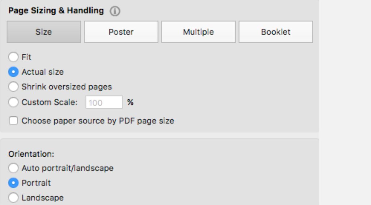 Page Sizing & Handling