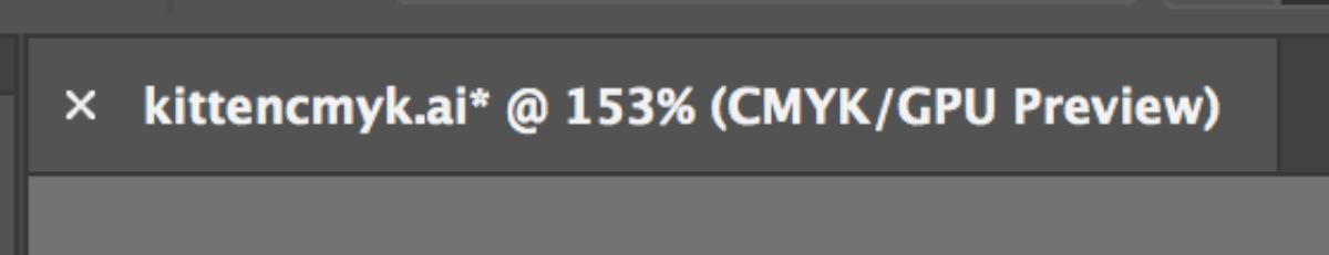 Illustrator File in the CMYK Color Space