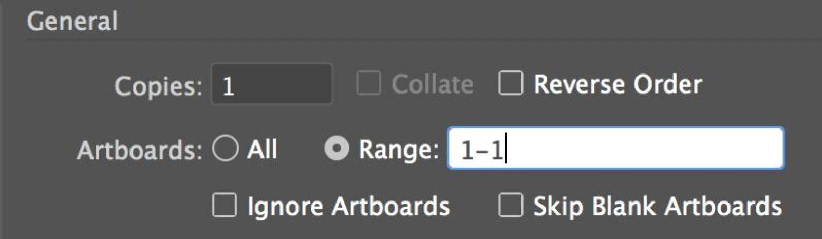 Select Artboard Page Range