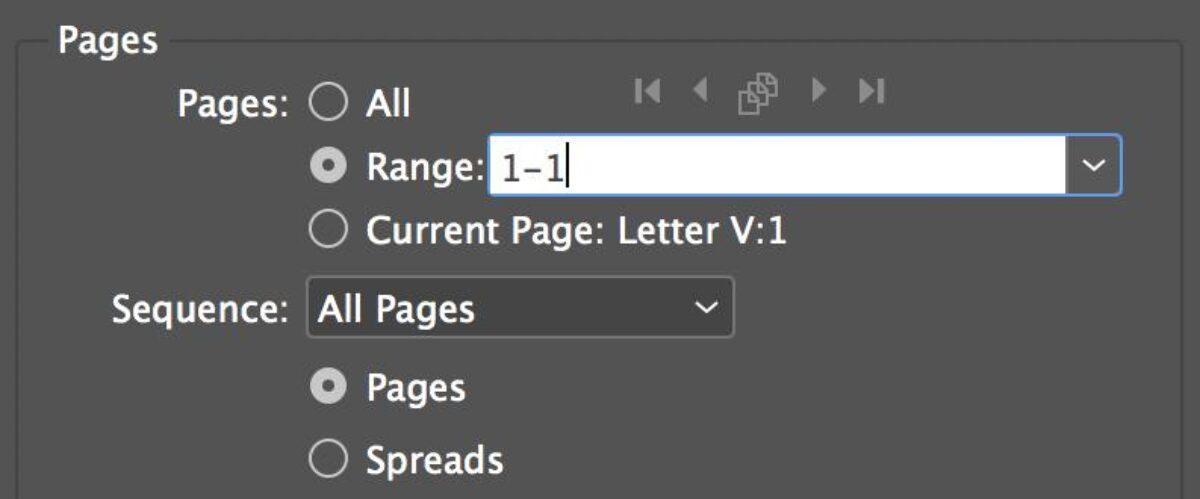 Page Range