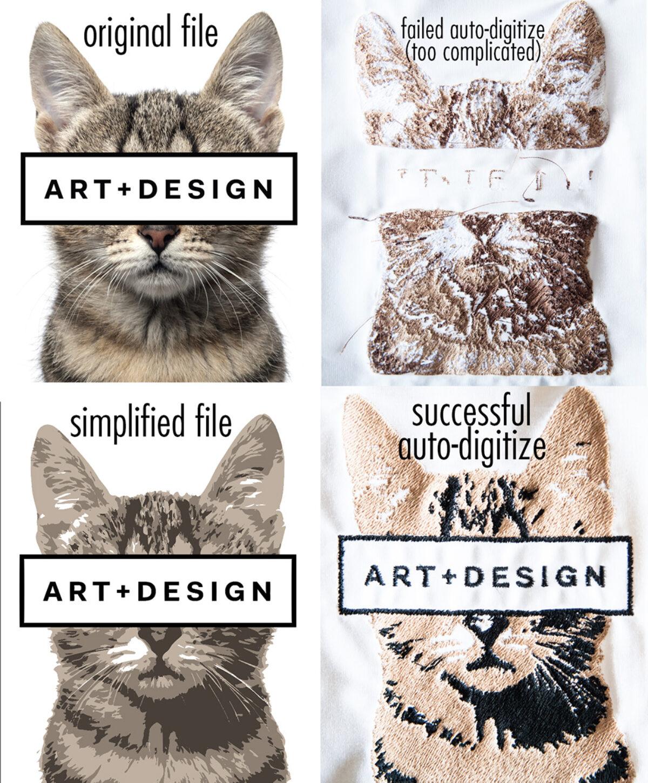 Raster Auto-Digitizing Cat Examples