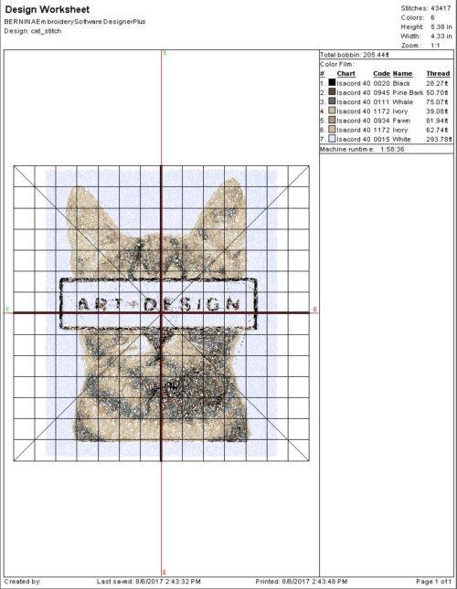 Sample Design Worksheet