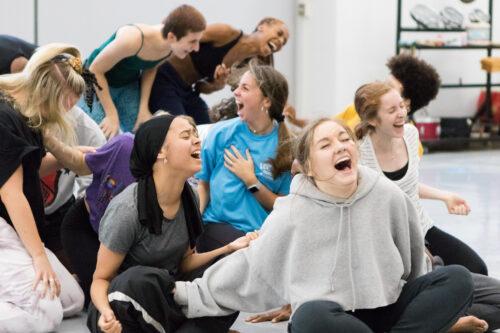 Dancers laughing