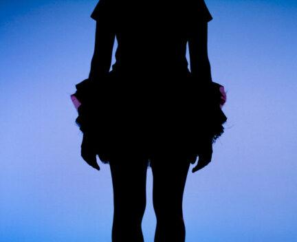 Dancer in tutu silhouette