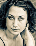 Black and White headshot of Kayt