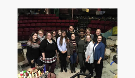 Stage managers with Cynthia Kocher and Amber Schultz