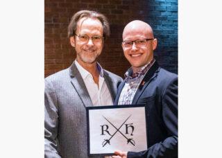 Robin McFarquhar with Robin Hood Award