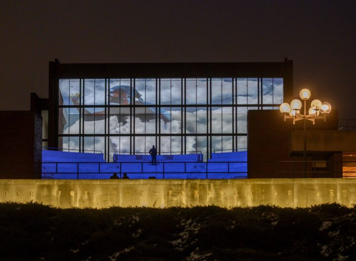 Projections on exterior of theatre