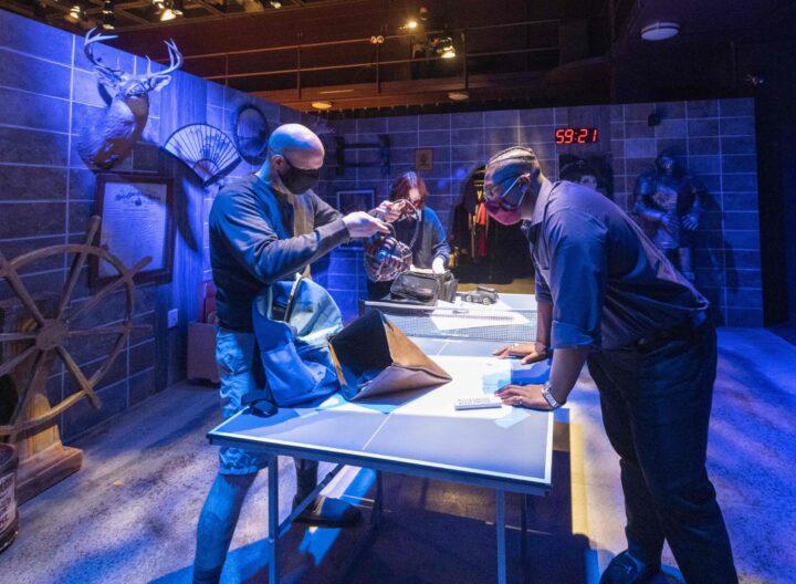Escape Room production in the Studio Theatre